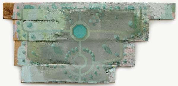 untitled, acrylic on wood and mdf, 42x90 cm