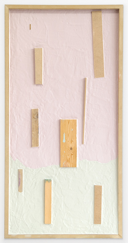 untitled, acrylic, wood and mdf on board, 130x65 cm